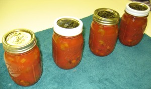 Cans of Tomato Veggie Soup